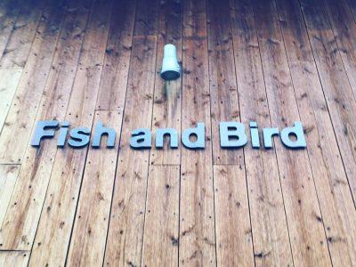 Fish and Birdのクライミングウォール