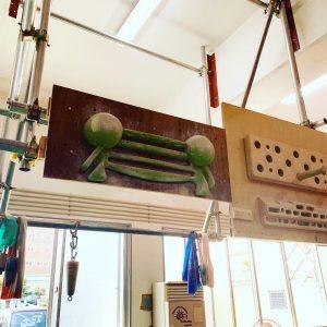 ボルダリングジムKorupikiのトレーニング器具